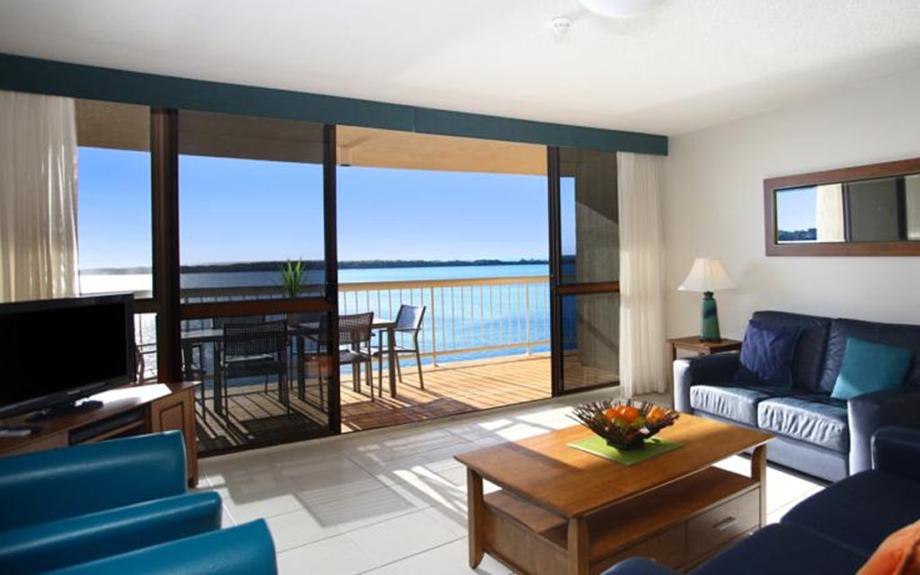 Two Bedroom Water View holiday apartments at Golden Beach
